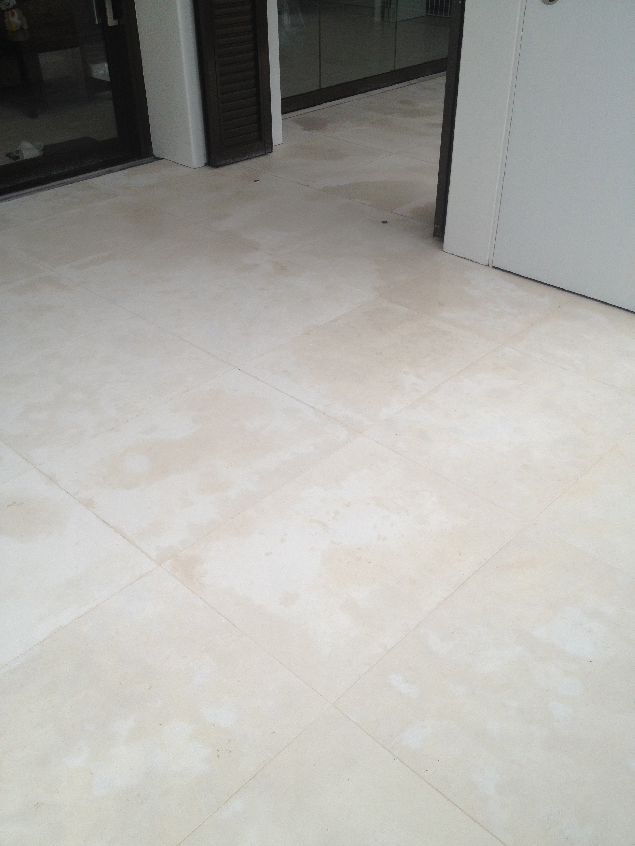 Polished porcelain tiles  Hamilton's Cleaning